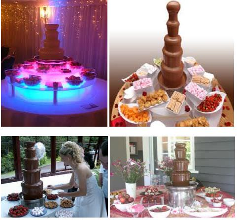 Chocolate Fountains Wedding Fares West Midlands Wedding